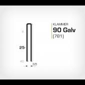 Klammer 90/25 Galv - Elförzinkad (781-25)