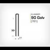 Klammer 90/30 Galv - Elförzinkad (781-30)