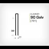 Klammer 90/32 Galv - Elförzinkad (781-32)