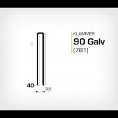 Klammer 90/40 Galv - Elförzinkad (781-40)