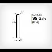 Klammer 92/15 Galv - Elförzinkad (664-15)