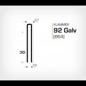 Klammer 92/30 Galv - Elförzinkad (664-30)