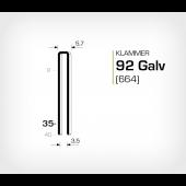 Klammer 92/35 Galv - Elförzinkad (664-35)