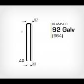 Klammer 92/40 Galv - Elförzinkad (664-40)