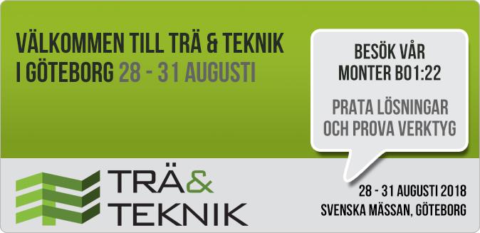 Besök HjoTrade på Trä & Teknik  28 - 31 Augusti - Svenska Mässan i Göteborg