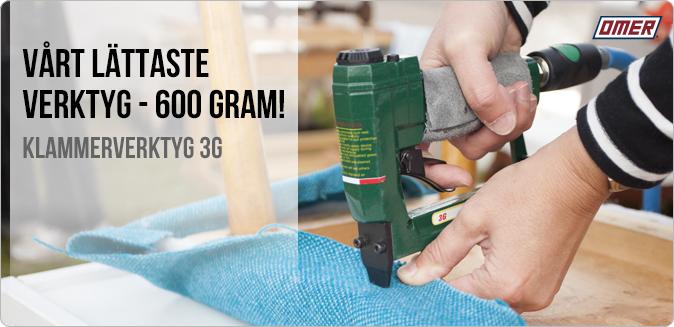 Klammerverktyg 3G - Väger endast 600 gram, ett av de lättaste verktygen på marknaden