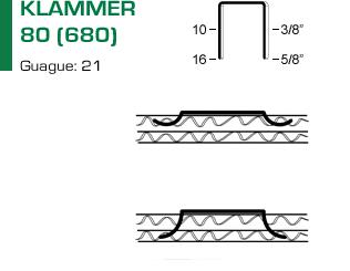 Klammer 80 (680) för klammerpistol 80.16 OC