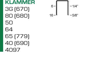 Klammer för klammerverktyg ROP